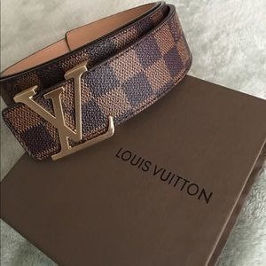 Brown LV belt